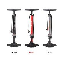SAHOO rowerowa pompa podłogowa z 170PSI Gauge wysokociśnieniowa pompka do opon rowerowych pompa rowerowa akcesoria rowerowe