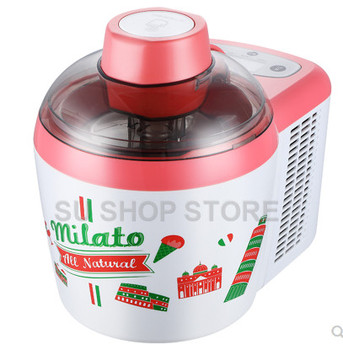 220V Automatic Ice Cream Makers Fruit Dessert Machine no pre-freezing required Fruit Ice Cream Machine Maker free ship by sea fast freezing roll thailand fry ice cream machine double pan