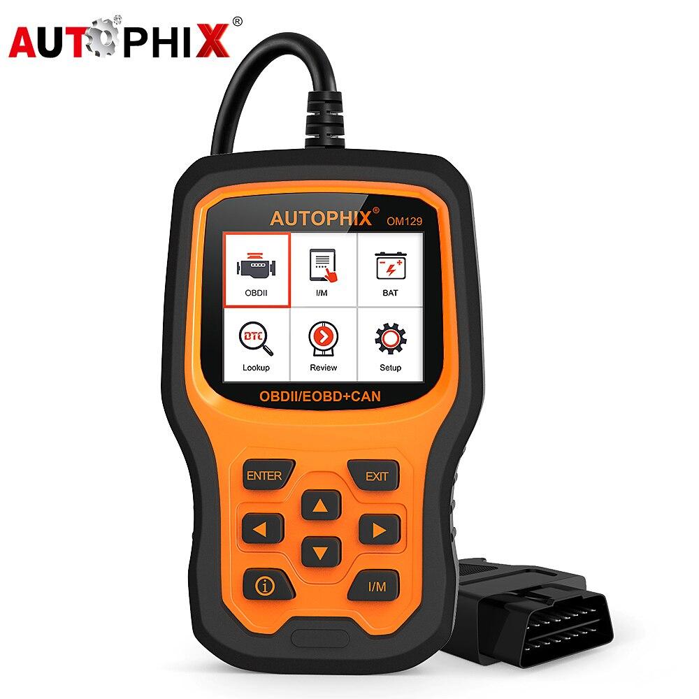 Autophix OM129 OBD2 Auto Scanner Multi-Language Engine Battery Check Live Data ODB OBDII Code Reader Diagnostic Tool Free Update