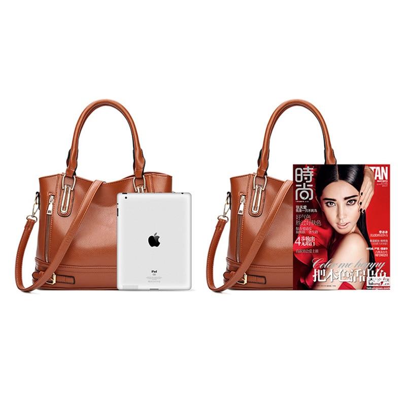 Image 5 - 2020 새로운 가죽 여성 핸드백 럭셔리 여성 숄더 가방 디자이너 여성 크로스 바디 메신저 가방 레이디숄더 백수화물 & 가방 -