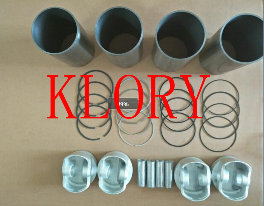 Four matching (Cylinder Liner Piston ring piston pin) for great wall c30 florid 4G15 engine стоимость