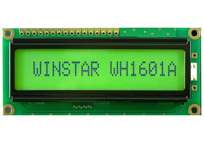 WH1601A WINSTAR Character LCD Display Module is made of 16 x 1 dots matrix, screen green backlight new and original