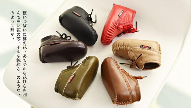 New arrived 100% Handmade Genuine Leather Baby Moccasins Toddler Infant Footwear Soft Sole Baby Shoes Pre-walker First Walkers