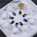 Pack De 8 Cajas Holográfica Holo Nail Art Glitter Powder Polvo Camaleón Pigmento En Polvo de Decoración de Uñas 38301