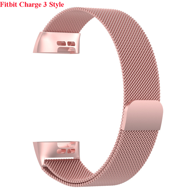 JKER Stainless Steel Magnetic Milanese Loop Band for Fitbit Charge 2 Replacement Wristband Strap for Fitbit Charge 3 Watchband 5