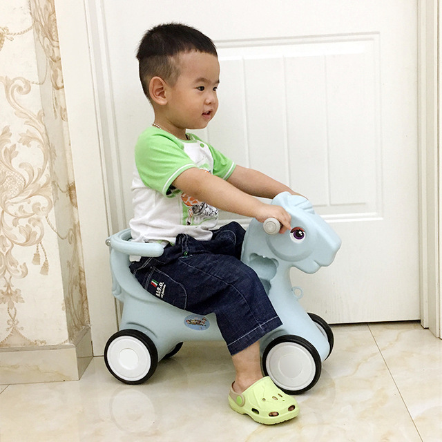 Free Shipping Large New Baby Rocking Horse  Children's Wooden Horse Rocking Chair with Music 1