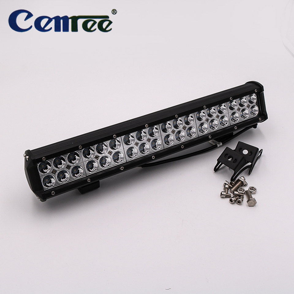 CENREE 1pcs 9-30V Light Bar 108W LED Light IP67 6000K LED Bar Spot Light for Motorcycle Car Tractor Boat Off Road Truck ATV