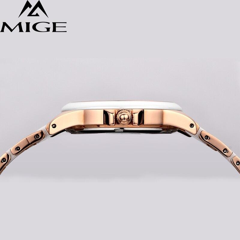 Лидирующий бренд белые керамические японские кварцевые женские часы для леди Relogio Saat Montre Horloge Feminino Bayan Femme ceramic BERNY - 6