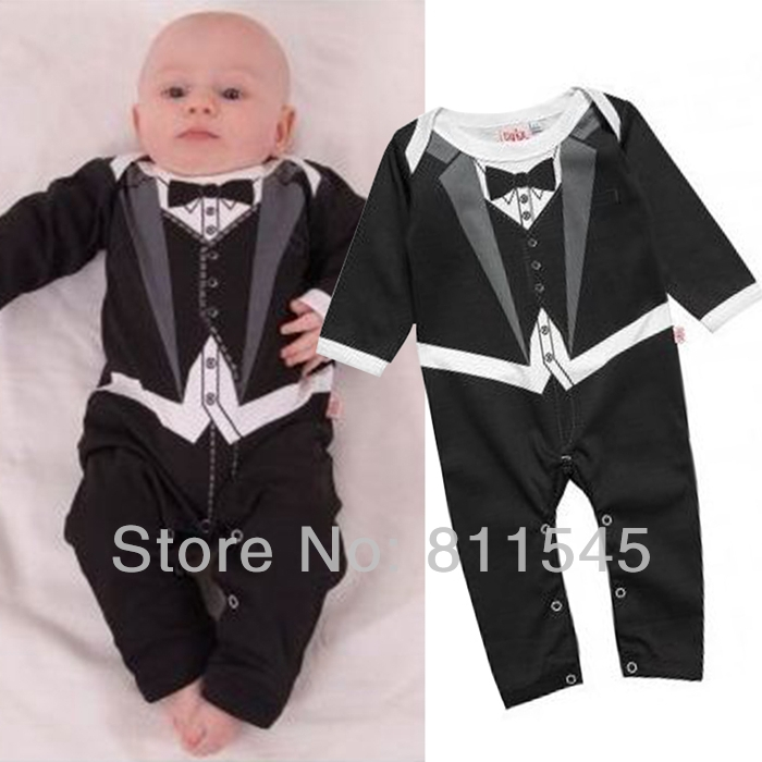 One Piece Body Baby Boy Romper Suit Gentleman Jumpsuit Children Overall Baby Boys' Rompers Newborn Infant Clothes Bebe Clothing summer 2017 navy baby boys rompers infant sailor suit jumpsuit roupas meninos body ropa bebe romper newborn baby boy clothes