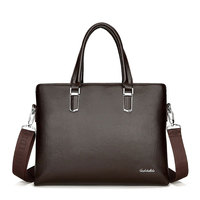 Fashion Vintage Retro Large Shoulder Bag Laptop Bag Handbags Men Crossbody Bag Men's Travel Business Brown Leather Briefcase