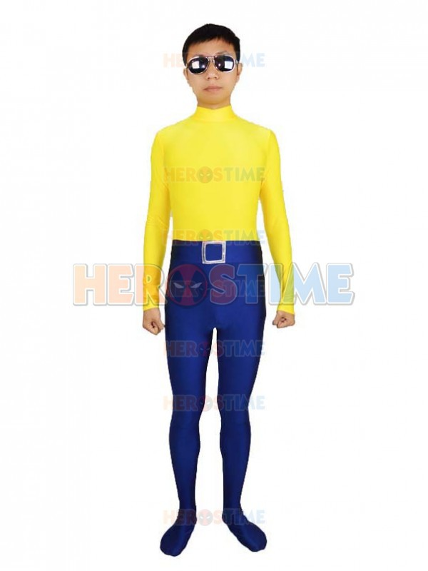 Alias the Spider Superhero Costume Hot Sale Halloween Navy Blue & Yellow Spiderman Costume Spandex Zentai Suit free shipping