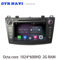 Octa Core Android 6 0 Car DVD Gps For Mazda 3 2010 2013 With 1024 600