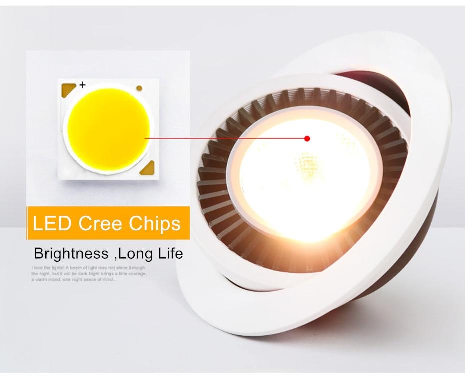 HTB1kYMkbBGE3KVjSZFhq6AkaFXae Dimmable Led Down light lamp COB Ceiling Light 5w 7w 10w 12w 85-265V recessed ceiling Spot Lights for kitchen bedroom home Decor