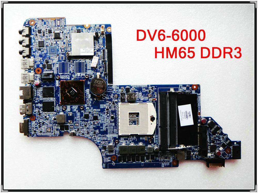 For HP DV6 DV6-6175CA DV6-6000 NOTEBOOK 659998-001 641487-001 659147-001 HPMH-41-AB6200-D00G HM65 LAPTOP MOTHERBOARD Full Tested