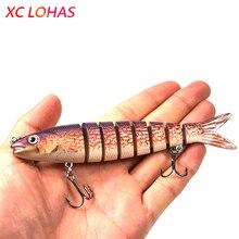 13.6cm 18.7g 8 Segments Swimbait Fishing Lures Hook Wobbler Isca Artificial Para Pesca Leurre Peche Hard Bait jig Carp Fishing