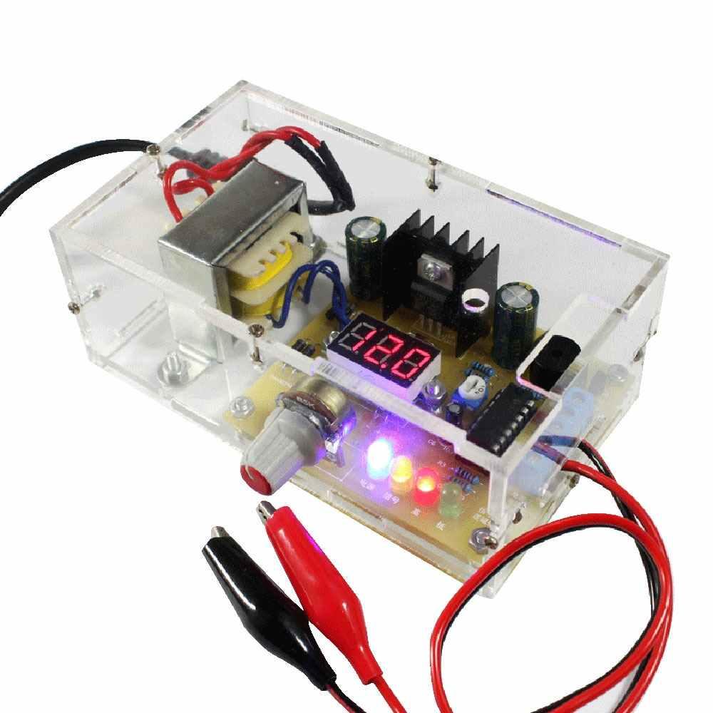 По стандартам ЕС/США регулируется Питание LM317 1,25 V-12 V с плавной регулировкой регулятор напряжения Питание DIY Kit