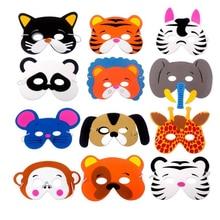 Креативная маска для детей, 10 шт., смешной из ЭВА, маска для животных, платье для лесной фермы, вечерние украшения на день рождения