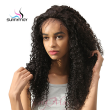 Sunnymay 250% Density Glueless Brazilian Human Hair Wigs Kinky Curly Lace Front Wig With Baby Hair PrePlucked Natural Hairline