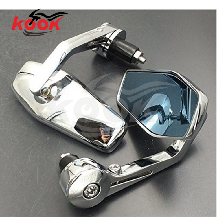 high quality chrome handlebar end motorcycle rearview mirror for harley mirrors motorbike side mirror universal motocross ATV