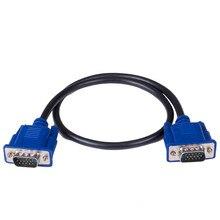 0,5 м VGA кабель «Папа-папа» SVGA кабель для монитора синий штекер для ПК компьютера VGA кабель дисплея 2B24