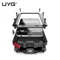 5S UYG dla iphone case 360 stopni ochrony Luksusowe doom armor Metal przypadku telefonu pokrywa dla iphone 5c 5 SE + przodu szkło Hartowane