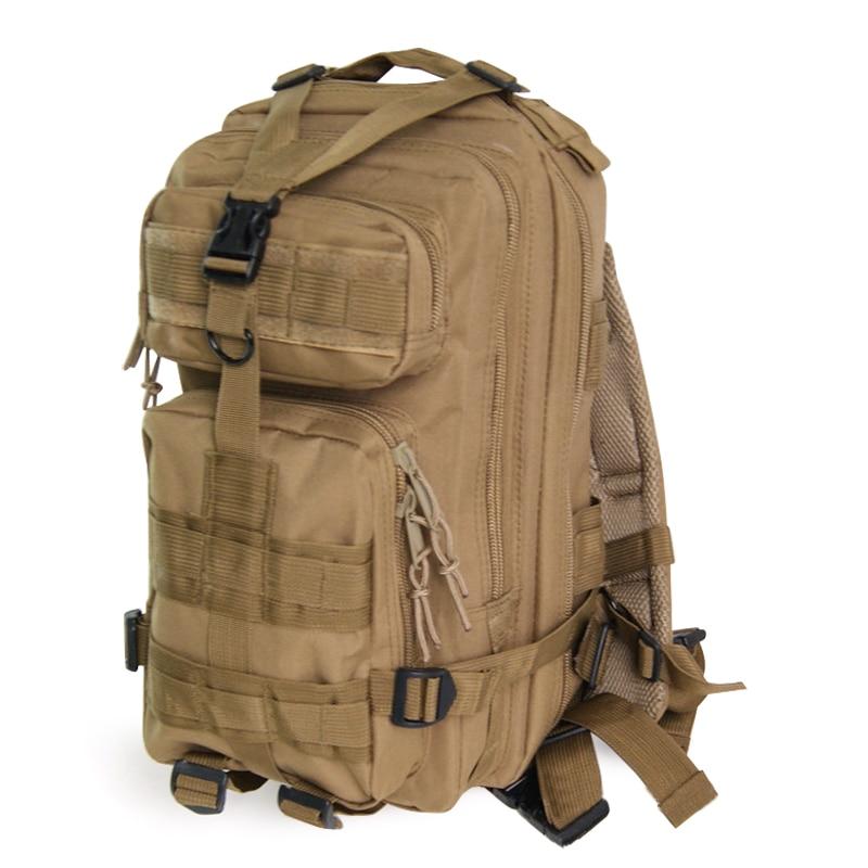 Hot Fashion 30L Military Rucksacks Backpack Traveling Bag with Mulitfunctional Pockets - Khaki