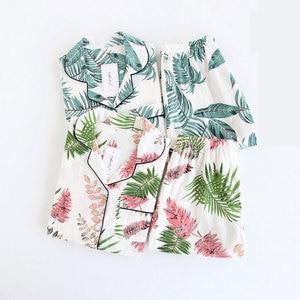 Image 3 - ฤดูร้อนใหม่ชุดนอนชุดนอนแขนสั้นชุดนอนพิมพ์Pijama Mujerผ้าฝ้ายPijama Femmeเซ็กซี่ชุดนอนสบายๆชุดชั้นในชุดชั้นใน