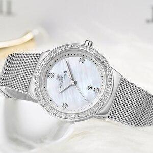 Image 5 - NAVIFORCE جديد إمرأة فاخر ماركة ساعة كوارتز سيدة موضة ساعات الفولاذ مقاوم للماء السيدات ساعة اليد Relogio Feminino