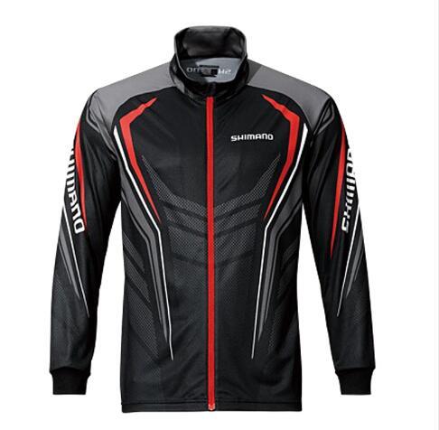 2017 Brand Fishing Clothes New Fishing Shirt Breathable Quick Dry Anti-UV Long Sleeve Black and White Fishing Clothing SS027
