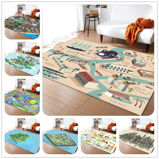 Activity Children Puzzle Play Mat Carpet Kids Room Rug Baby Bedroom Crawl Carpets Bathroom