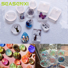 5Pcs/set Water Drop Epoxy Silicone Mold Fondant Crystal Diamond Bracelet Pendant Jewelry Doming Mould Resin Casting Mould Craft
