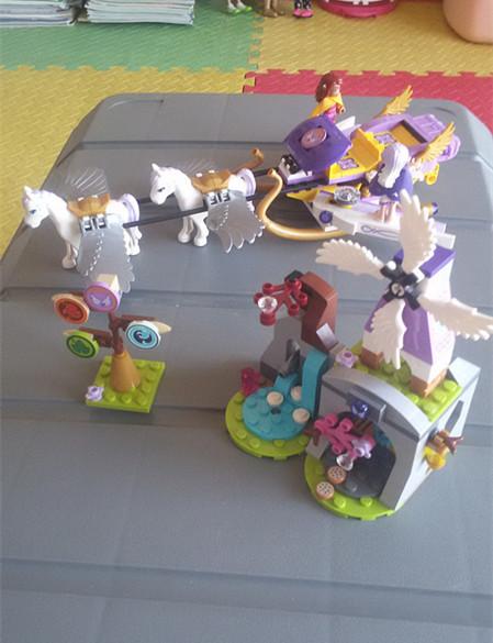 Bela 10413 hadas elfos de aira pegasus trineo minis bloques de construcción de ladrillos de juguetes para los niños juguetes de regalo de las muchachas lepin 41077