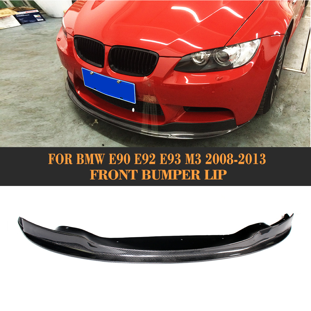 E90 E92 E93 M3 Carbon Fiber Front Lip spoiler for BMW M3 2008 - 2013 Car Styling Front Bumper Diffuser Lip