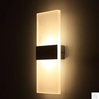 ФОТО Modern simplicity 6W LED lamp Bedside lamp Warm White Light 90-265V Bed Room Living Room Wall Sconces