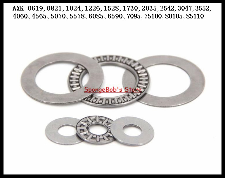 3pcs/Lot Thrust Needle Roller Bearing AXK75100 75mm x 100mm x 4mm Thrust Bearing
