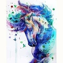 Аннотация лошадь животных изображение по номерам Наборы Краски ing номер Аватар diy Краска по номерам Гостиная украшение 40X50 без рамки