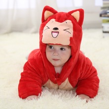 Cartoon photography baby rompers character design 3 layer thermal for winter