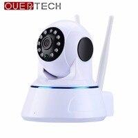OUERTECH 1080P 2MP podwójna antena Pan/Tilt ONVIF WiFi kryty IP IR kamery monitorujące CCTV dzień noc ekran wideo kamera w Kamery nadzoru od Bezpieczeństwo i ochrona na