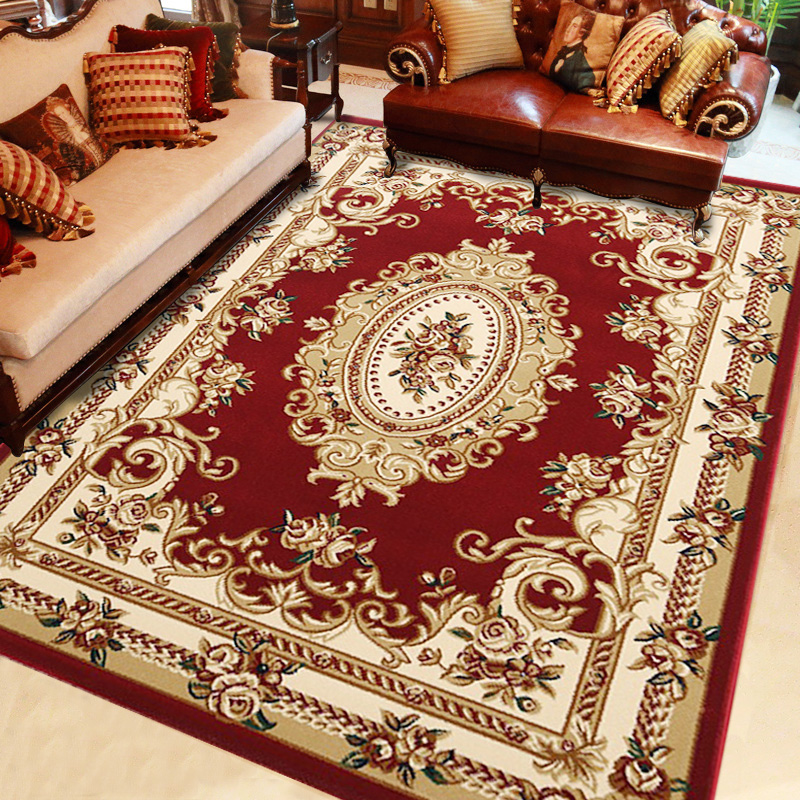 Large flower encryption thick European-style living room sofa large carpet bedroom bedside coffee mat