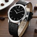 GuanQin Watch Men Simple Style Leather Strap Ultra Thin dial Montre Homme Calendar Watch For Men Wristwatches Relogio Masculino