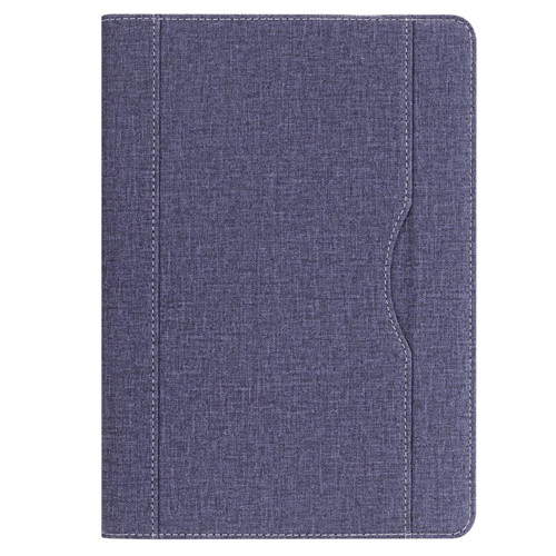 Blue iPad folio case with stand and pen holder