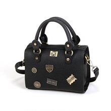 Luxury Boston Bag Ladies Cartoon Letters Metal Retro Shoulder Bag Designer Cheap font b Handbag b