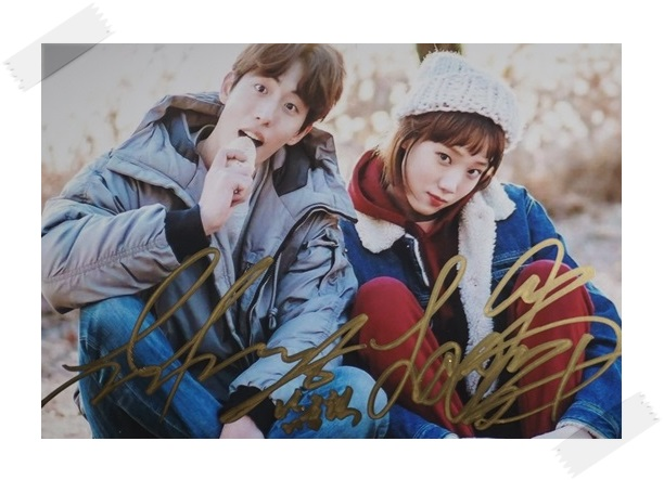 Nam Joo Hyuk Lee Sungkyoung  Sung kyoung  autographed  signed photo picture 4*6 inches freeshipping 02.2017