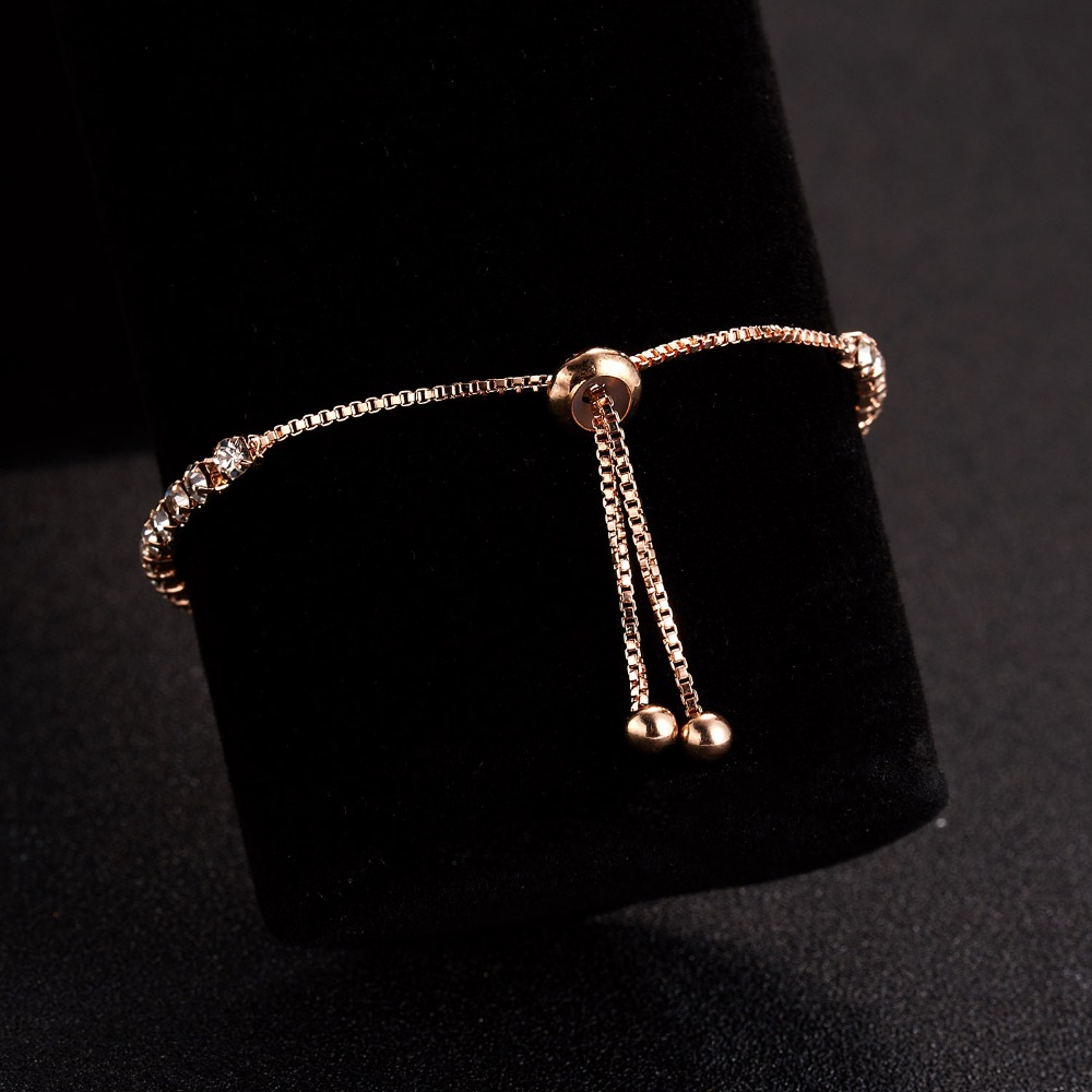 RINHOO Fashion Cubic Zirconia Tennis Bracelet & Bangle Adjustable Pulseras Mujer Charm Bracelet For Women Bridal Wedding Jewelry 7
