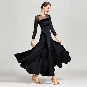 Image 3 - Vestido de Salón Estándar rojo para mujer, vestido de vals con flecos, Ropa de baile de salón, trajes de baile modernos, vestido de flamenco