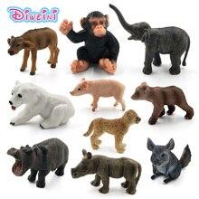 Jouet modèle, Simulation déléphant, cochon souris hippopotame, chimpanzée, ours polaire, Rhinoceros, bétail, léopard, Chinchilla, vache, figurines danimaux, jouet modèle