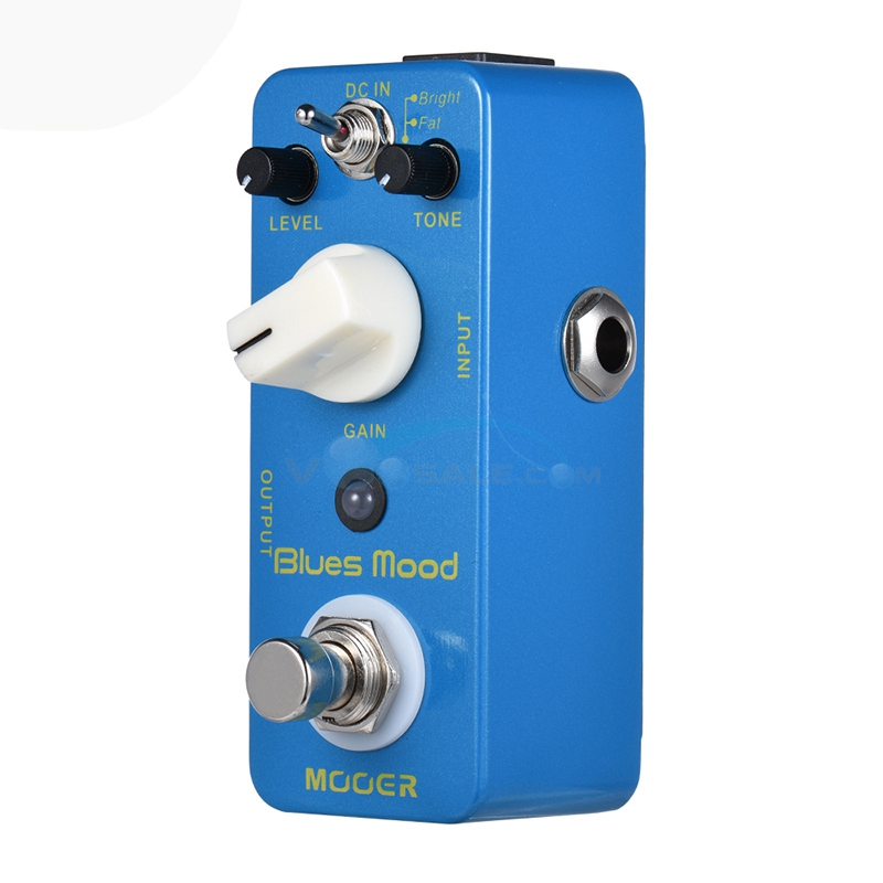 Mooer Blues Mood Style Overdrive Guitar Effect Pedal with True Bypass Full Metal Shell 2 Working Modes Bright /Fat new effect pedal mooer solo distortion pedal full metal shell true bypass