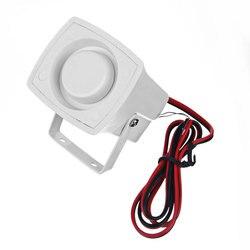 Petite sirène d'alarme filaire extérieure ou intérieure-120dp très forte pour les systèmes d'alarme 12 v Volt