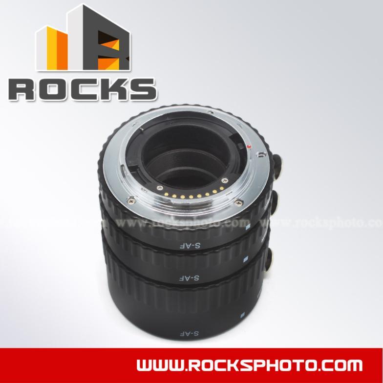Meike Metal Autofoucs Macro Extension Tube Suit For Sony A77II A58 A99 A65 A57 A77 A900 A55 A35 A700 A580 A560 A550 A500 D7D D5D macro extension tube for sony e mount ac ms silver grey