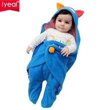 IYEAL Newborn Swaddle Wrap Blanket Sleeping Bag Fleece Animal baby boys girls Sleep Sack Bedding Fits Car Seat Pushchair 0-18M